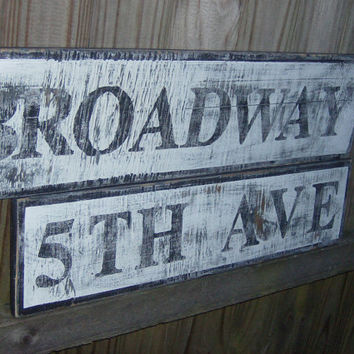 Decorative vintage look Street sign- Customized to any street you like