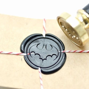 Batman Superhero B20 Gold Plated Wax Seal Stamp x 1