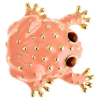 Frog Brooch, Coral, Brooches & Pin/Pendants