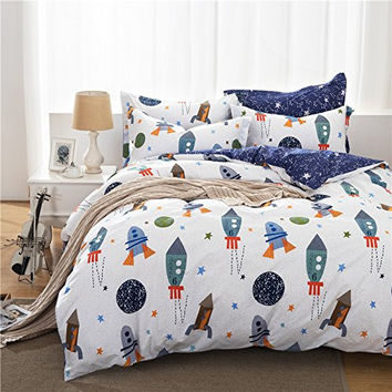 Boys Galaxy Space Bedding Set Kids Bedding Set Duvet Cover Full Queen Size