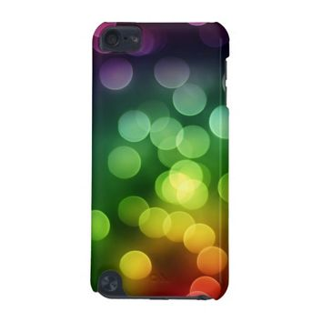 Rainbow Colors Bokeh Balls iPod Touch 5G Case