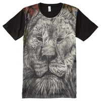 Wind Beneath My Wings African Lion Wildlife Art All-Over Print T-shirt