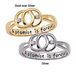 Sterling Silver 'A Promise is Forever' Engraved Diamond Promise Ring | Overstock.com