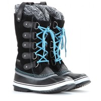 sorel - joan of arctic knit suede and rubber boots