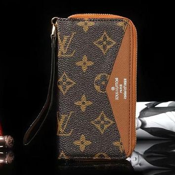 Louis Vuitton LV Fashion iPhone Phone Cover Case Wallet Purse Fo ad9019819e