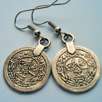 Silver Coin Earrings, Gypsy Earrings, Silver Drop Earrings, Boho Jewelry, Boho Earrings, Turkish Earrings