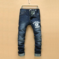 Winter Fashion Korean Men Pants Men's Fashion Stylish Thicken Jeans [6528464387]