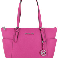Michael Kors Jet Set Top Zip East West Tote Handbag Purse