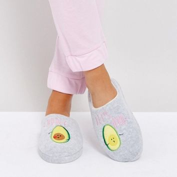 ASOS NEVER LEAVE Avo-Cuddle Slippers at asos.com