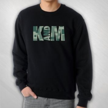 Kalin and Myles - Camo Logo crewneck sweatshirt [KAM3002]: Now Just $40.00