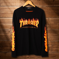 Womens THRASHER Long Sleeve Pullover Sweatshirt