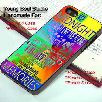 One Direction Midnight Memories Color - iPhone 4, iPhone 4s, iPhone 5, iPhone 5s, iPhone 5c Case and Samsung Galaxy S3, Samsung Galaxy S4
