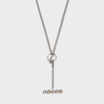 'Night Streets' Adjustable Lariat Necklace White Gold