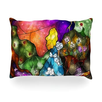 "Mandie Manzano ""Fairy Tale Alice in Wonderland"" Oblong Pillow"