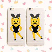 Twinning Emoji - Clear TPU Case Cover