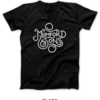 Mumford And Sons Title Art Black And White Mens T Shirt