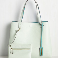 Know a Thing or Two-Tone Bag in Mint | Mod Retro Vintage Bags | ModCloth.com
