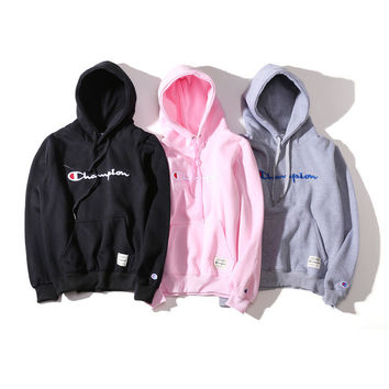 Couple Embroidery Hoodies Thicken Hats [10290564551]