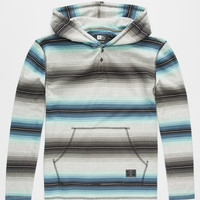 Rip Curl Pescadero Boys Henley Hoodie Mint  In Sizes