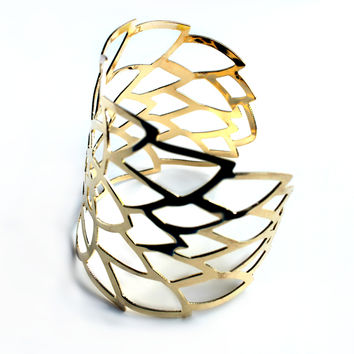 """Golden Burst"" Gold Cuff Bracelet"