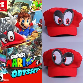 Super Mario party nes switch Game  Odyssey Hat Adult Kids Anime Cosplay Cap Handmade  Odyssey AT_80_8