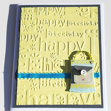 Purse Birthday Card