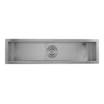 DAX-SQ-3285 / DAX HANDMADE UNDERMOUNT BAR SINK, 16 GAUGE STAINLESS STEEL, BRUSHED FINISH