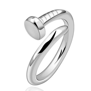 Trendy Silver Plated Engagement Wedding Bands For Women Smtr591