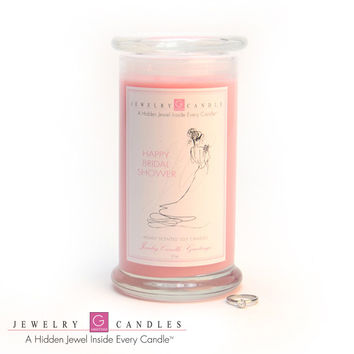 Happy Bridal Shower Jewelry Greeting Candles