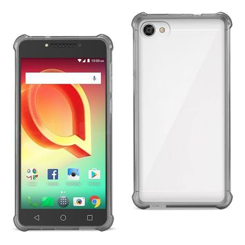 Alcatel Crave Clear Bumper Case With Air Cushion Protection (Clear Black)