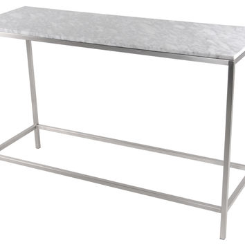 Shea Console Table Frame Brushed Stainless Steel (TOP SOLD SEPARATELY)