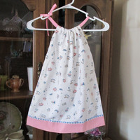 Clearance - Pillowcase Dress - Suggested Size 2 - 4 - Sweet Vintage Look Dutch Doll Print