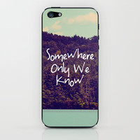 Somewhere iPhone & iPod Skin by Rachel Burbee