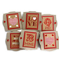 Valentine Stamp Tags Valentine Tags Valentine Gift Tags