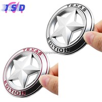 Car-styling 3D Metal Badge Stickers Auto Emblem Decals Decoration For TEXAS EDITION Pentagram Logo For Jeep Patriot Wrangler