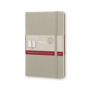 Moleskine Two-Go Notebook Medium Ruled-Plain Ash Grey Diary – August 31, 2016