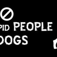 Ban stupid people - not dogs bumper sticker