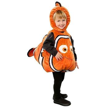 Deluxe Adorable Child Clownfish From Finding Nemo Little Baby Fishy Halloween Cosplay Costume Age 2-7 Years