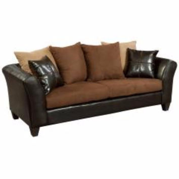 Riverstone Sierra Chocolate Microfiber Sofa