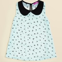Aqua Girls' Bird Print Top - Sizes S-XL | Bloomingdale's