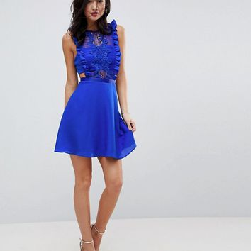 ASOS Lace Pinafore Mini Dress at asos.com