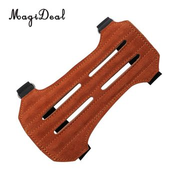 MagiDeal Outdoor Archery Bow Arm Guard Bracer Protector for Target Shooting Hunting accessory