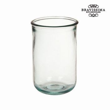 Recycled Glass Vase Smooth Tall - Pure Crystal Kitchen Collection by Bravissima Kitchen