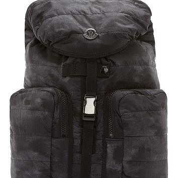 Moncler Black Quilted Matte Backpack
