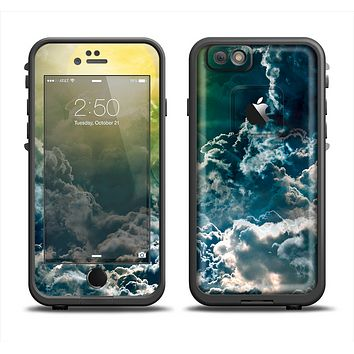 The Bright Sun Over Cloud-Magic Apple iPhone 6 LifeProof Fre Case Skin Set