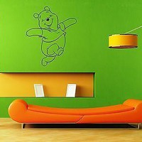 Wall Stickers Vinyl Decal Baby Cartoon Winnie the Pooh Positive Design Unique Gift (ig1038)