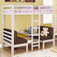 Bunks Twin Over Twin Convertible Loft Bed by Coaster at Suburban Furniture
