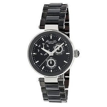 Kenneth Cole New York Women's KC4729 Round Black Dial Multi-Function Date Watch