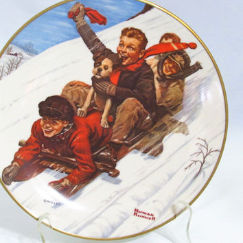 1975 Down HIll Darling Christmas Plate