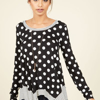 Oh Happy Playday Polka Dot Top | Mod Retro Vintage Short Sleeve Shirts | ModCloth.com